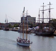 East Bank Tall Ships - Bay City - 2010 by Francis LaLonde