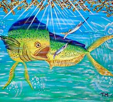 Maui Maui Dolphinfish by Surrealfantasy