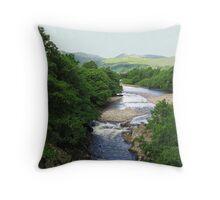 The River Conon in Strath Conon, Highlands of Scotland Throw Pillow