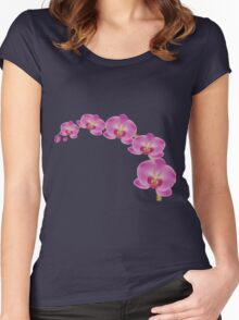 Flower Orchid Women's Fitted Scoop T-Shirt