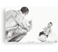 'Kick it to Dad' Canvas Print