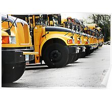 BUSES IN LINE Poster