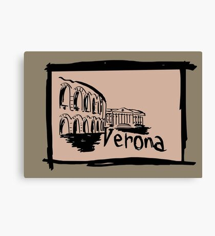 Verona sketch Canvas Print