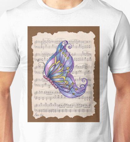Dancing Butterfly_2_brown Unisex T-Shirt