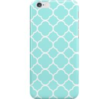 Quatrefoil Shape (Quatrefoil Tiles) - Blue White  iPhone Case/Skin