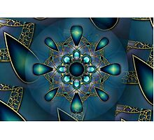 Blue Mandala 2 Photographic Print