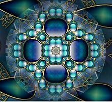 Blue Mandala 3 by Thanya