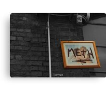 Meth picture frame Melbourne Canvas Print