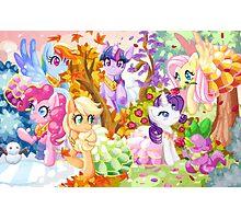 Mucha Ponies Photographic Print
