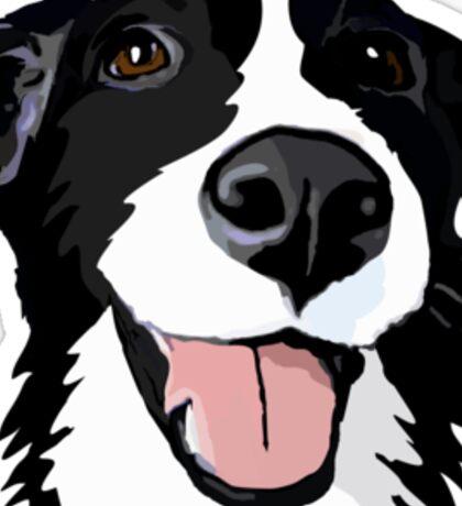 Smiley collie Sticker