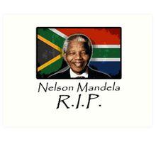 Mandela R.I.P. Art Print