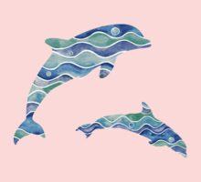 Ocean Pattern One Piece - Short Sleeve