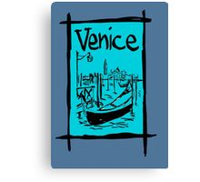 Venice lagoon sketch Canvas Print