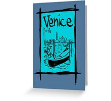 Venice lagoon sketch Greeting Card