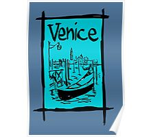 Venice lagoon sketch Poster