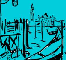 Venice lagoon sketch Sticker