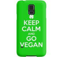 Keep calm and go Vegan Samsung Galaxy Case/Skin
