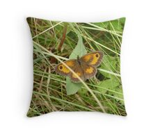 Gatekeeper butterfly(pyronia tithonus) Throw Pillow