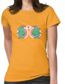 Funky Boy Loves Girl Womens Fitted T-Shirt