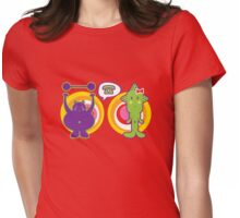 Mr. Purple and Miss Green Womens Fitted T-Shirt