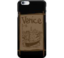 Venice lagoon vintage sketch iPhone Case/Skin