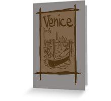 Venice lagoon vintage sketch Greeting Card