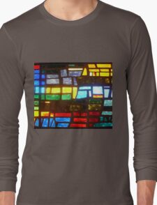 Straight from Camera Stain Glass Duvet Long Sleeve T-Shirt