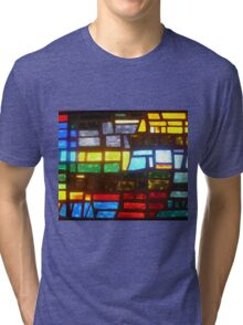 Straight from Camera Stain Glass Duvet Tri-blend T-Shirt