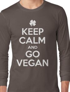 Keep calm and go Vegan Long Sleeve T-Shirt