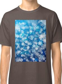 Snowing background Classic T-Shirt