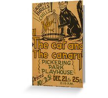 The Cat and the Canary Greeting Card