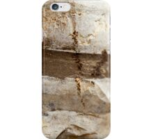 Rock strata closeup - sediment layers are visible  iPhone Case/Skin