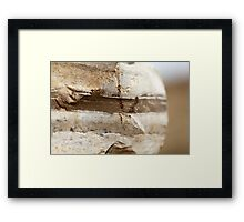 Rock strata closeup - sediment layers are visible  Framed Print