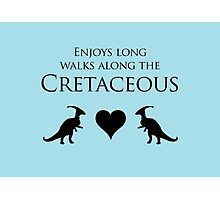 Enjoys Long Walks Along The Cretaceous Photographic Print
