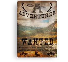 Adventurer Wanted Canvas Print