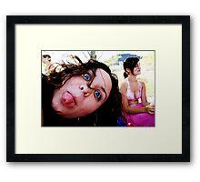 Crazy Alyssa Framed Print