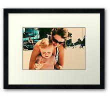 Mitzi and Caleb Framed Print