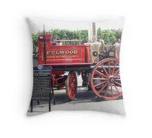 Horse Drawn Fire Appliance (Tram Sunday Fleetwood) Throw Pillow