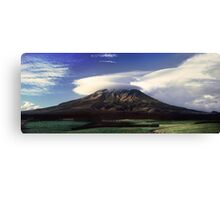 The Mountain That Knows How to Hook the Passing Clouds Canvas Print