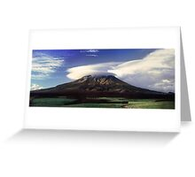The Mountain That Knows How to Hook the Passing Clouds Greeting Card