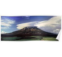 The Mountain That Knows How to Hook the Passing Clouds Poster