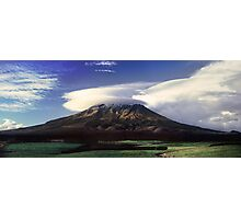 The Mountain That Knows How to Hook the Passing Clouds Photographic Print