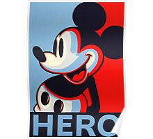 Mickey Mouse Hero Poster