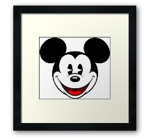 Mickey Mouse Smile Framed Print