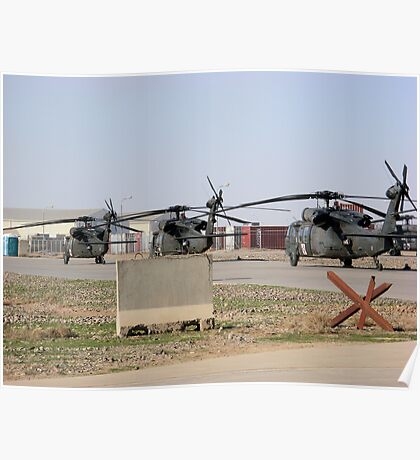 Med Evac Choppers Poster