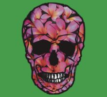 Skull Frangipani Flowers Pink Kids Clothes