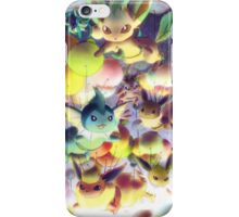 Eevees with Balloons iPhone Case/Skin