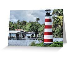 Lighthouse On Monkey Island Greeting Card
