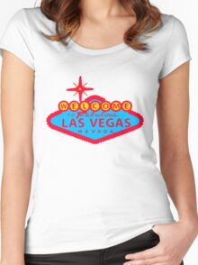 LAS VEGAS-COLOURED Women's Fitted Scoop T-Shirt
