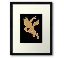 Fox McCloud silhouette Framed Print